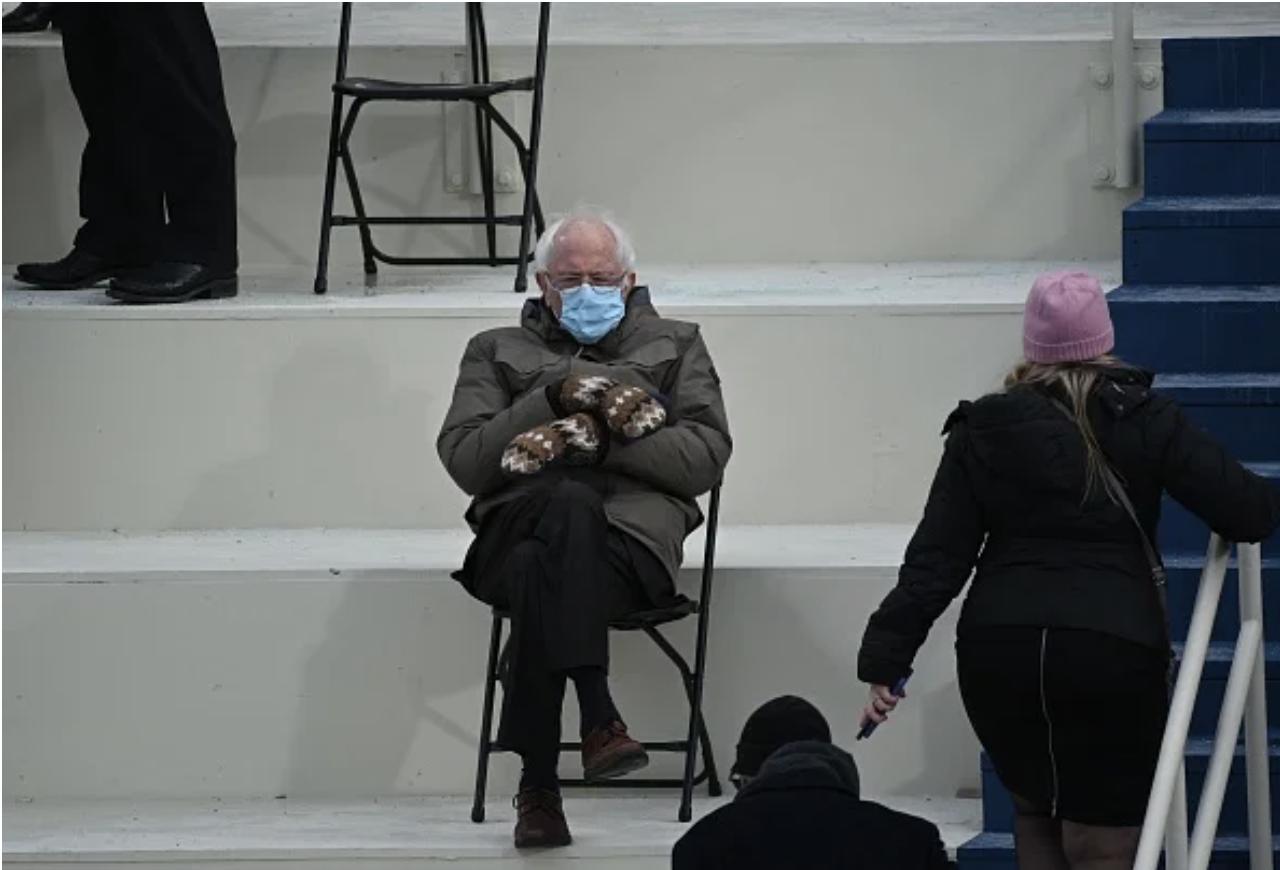 Bernie Sanders original inauguration day photo by Brendan Smialowski