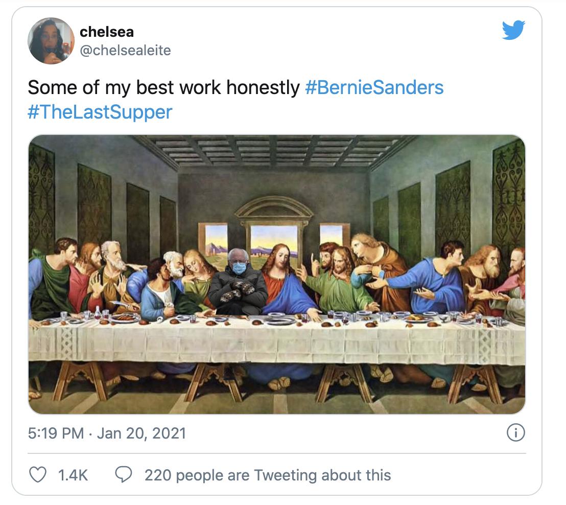 Bernie's meme last supper