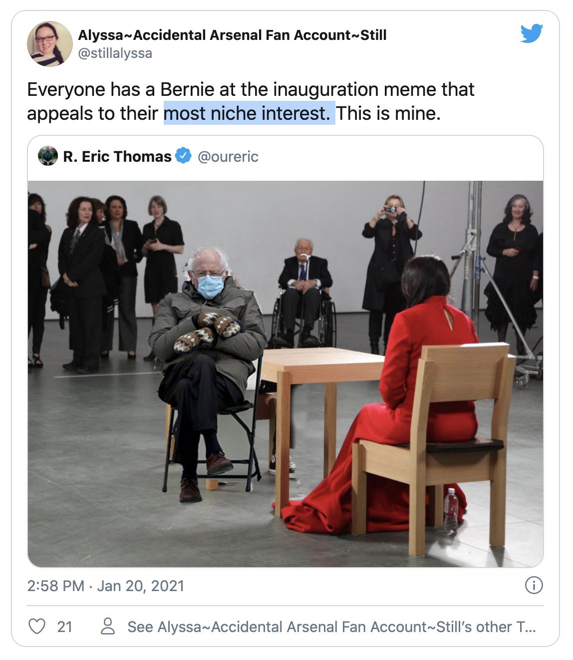 Bernie's art meme