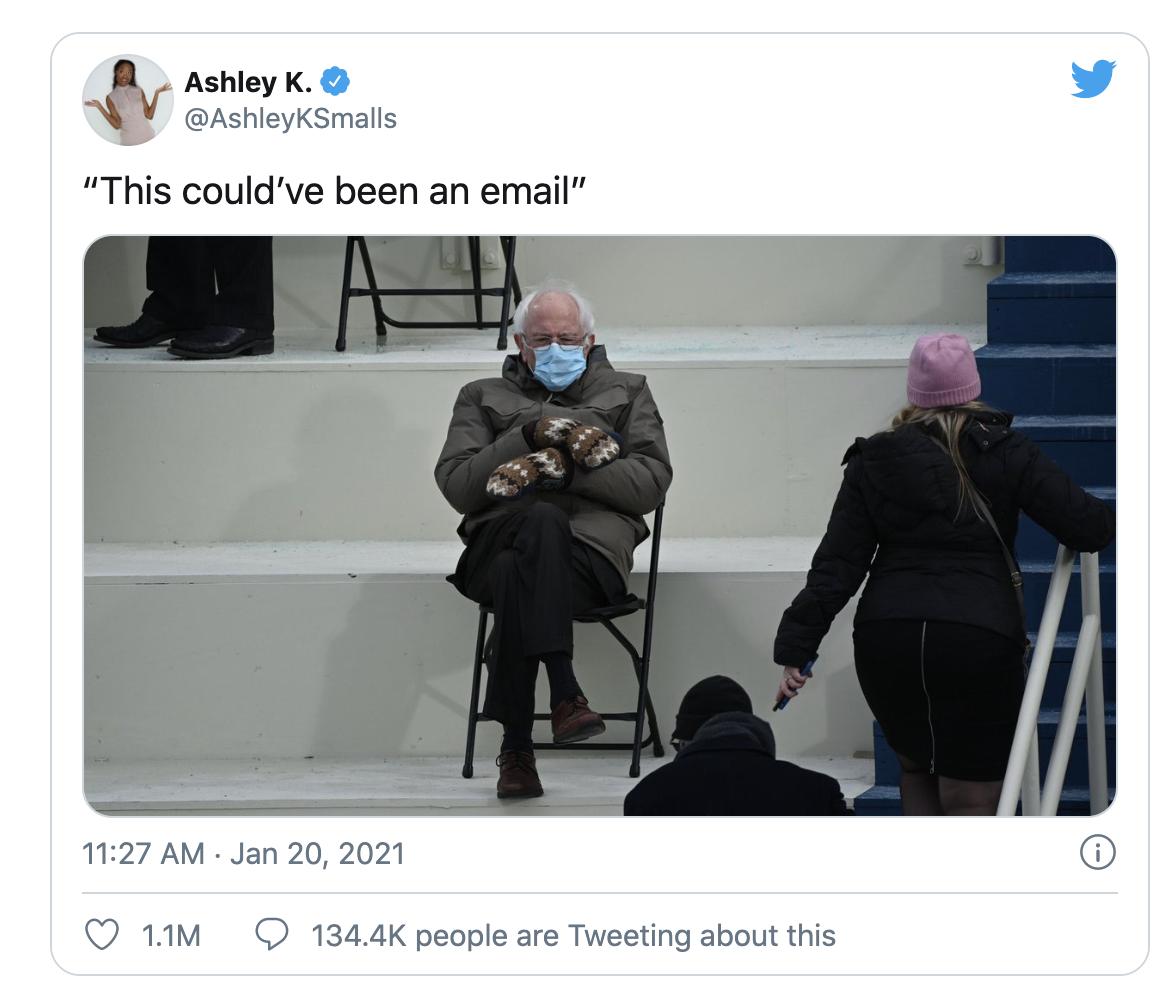 Bernie's photo - initial response