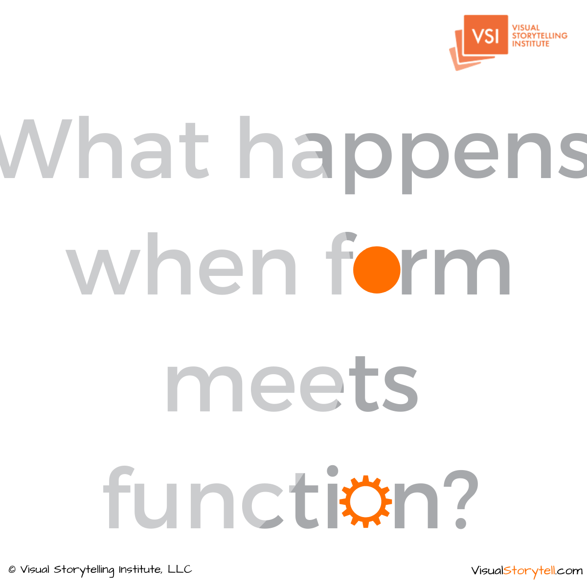 What happens when form meets function (1)